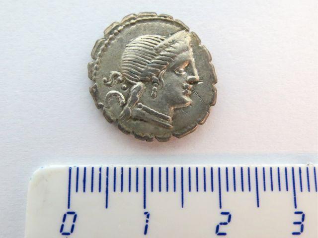 """מטבע כסף ע""""ס דינר רפובליקני, 79 לפנה""""ס, Naivius Balbus"""
