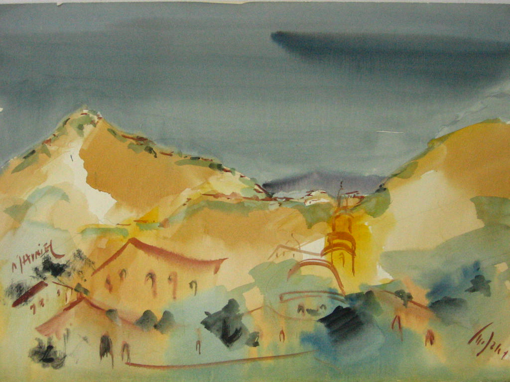 אקוורל, הר מירון, חתום
