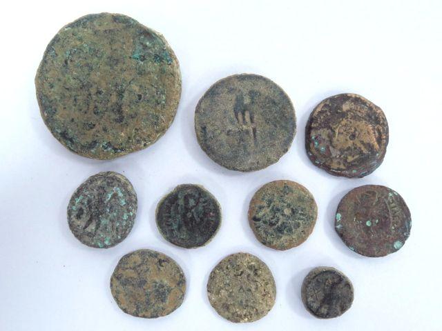 10 מטבעות ברונזה, בית תלמיי מאות שלישית ושניה לספירה