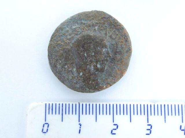 מטבע ברונזה רומי, פרובינסיאלית מהעיר אילה קאפיטולינה (ירושלים הרומית), מאה שלישית לספירה