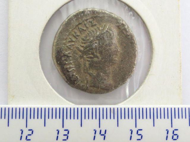 מטבע כסף טטרה דרכמה, שלטון קלאודיוס, 41-54 לספירה, מטבעת אשקלון