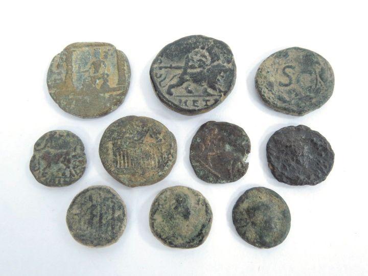 עשר מטבעות ערים רומיות ברונזה, ארץ ישראל וסוריה, מאה ראשונה עד רביעית לספירה, מצבים VF-Fine