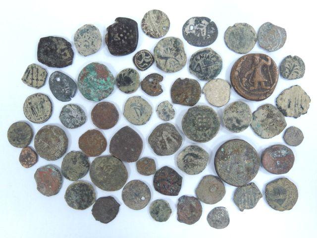 כ-50 מטבעות, ארץ ישראל, תקופה הלניסטית בית שני, תקופה רומית, ותקופה איסלמית