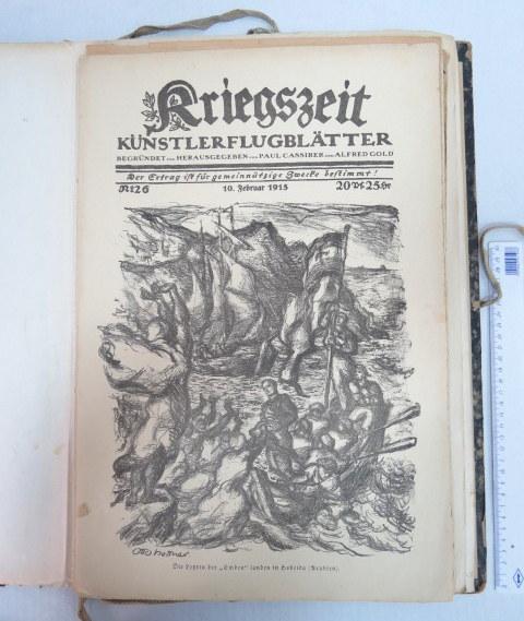 Kriegeszeit, kuenstler blaetter 31.8.14-12.1915, Vlg. P. Cassirer a. A. Gold 1-59 (10 missing),