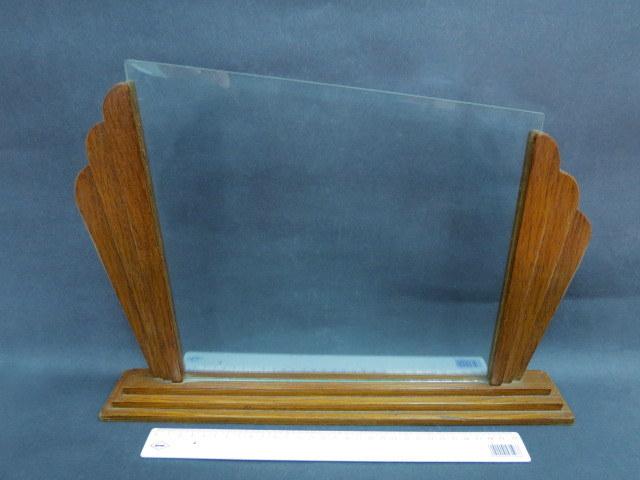 מסגרת לתמונה או צילום, אר דקו, עץ וזכוכית