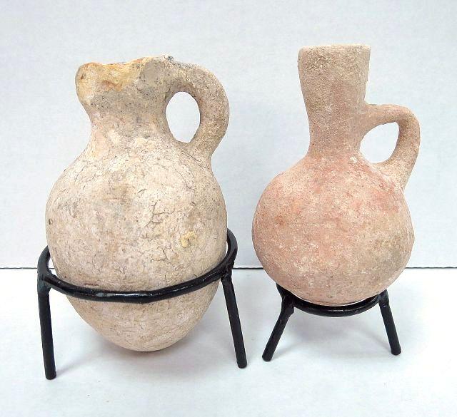 שתי פכיות מחרס, תקופת ברזל II הממלכה המאוחדת, שברים זעירים מתוקנים
