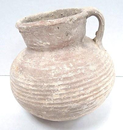 """סיר בישול, תקופה הרודיאנית 50 לפנה""""ס-50 לספירה, גובה 12 ס""""מ, מצב מושלם ללא תיקונים"""
