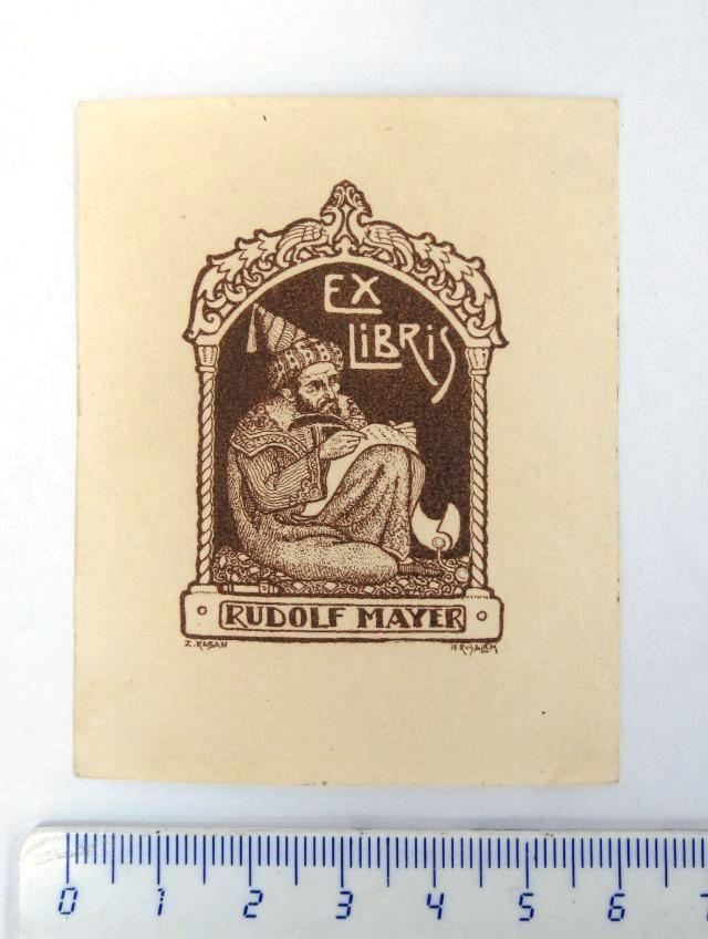 אקסליבריס של Rudolf Mayer חתום בלוח