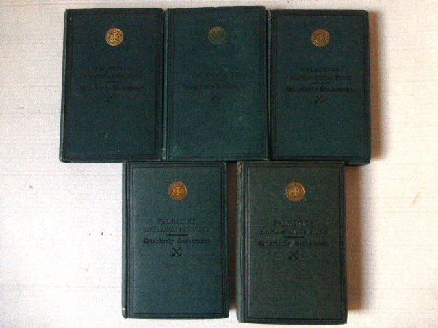 Quarterly Statement, London five vol: 1895,1896,1897,1898,1899