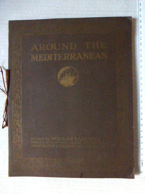 אלבום תמונות Around the Mediterranean, Cigarette picture album by Nicolas Asrony a. Co, London