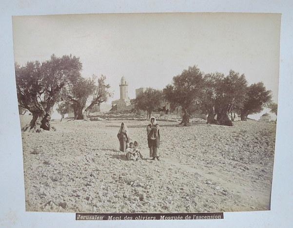 צילום אלבומין, הר הזיתים בירושלים Jerusalem mont des Oliviers