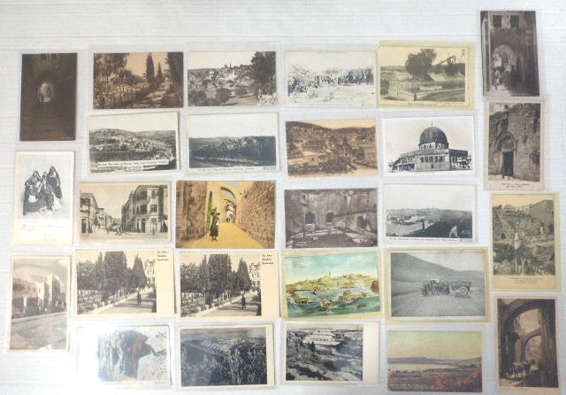 לוט 27 גלויות, ארץ ישראל הוצאות שונות, תחילת המאה ה20 עד שנות ה40: 11 ירושלים, 4 תל-אביב, 12 מקומות נוספים