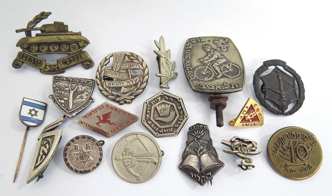 שש עשרה סיכות, סמלים, ישראל, שנות ה50-60