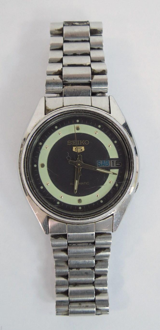 שעון יד תוצ Seiko, יפן סדרת 5 אוטומטי, עם תאריך ויום