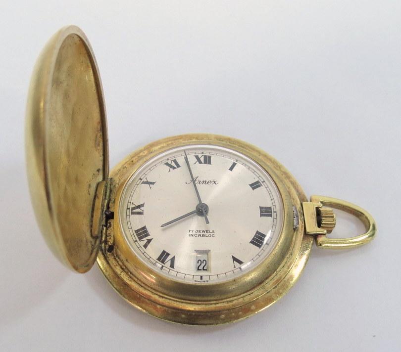 שעון כיס תוצ' Arnex, עם מחוג שניות ותאריך