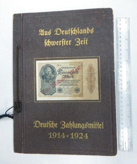 אלבום שטרות, אמצעי תשלום גרמניה, 1914-1924, תקופת האינפלציה הגדולה