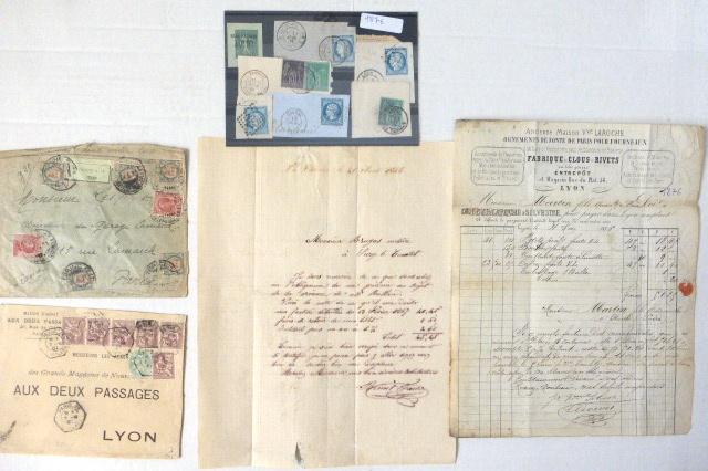 13 פריטי דואר צרפת, המאה ה19, מבויל, נשלח