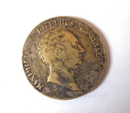 """מטבע כסף ע""""ס טאלר, בווריה 1809, מצב VG"""