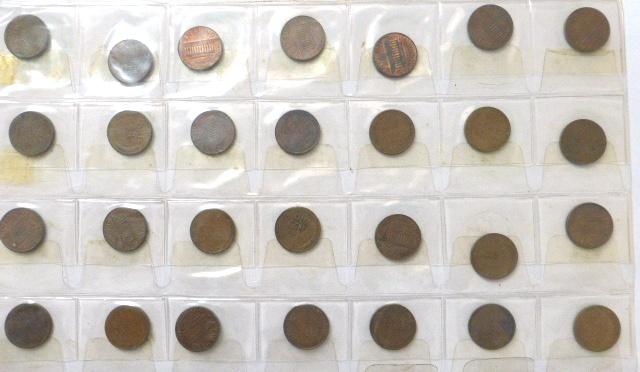 """אלבום עם מטבעות: ארה""""ב, USA - Dimes, Cents"""