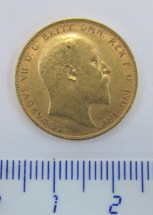 """מטבע זהב אנגלי ע""""ס סוברן B.P.1906"""