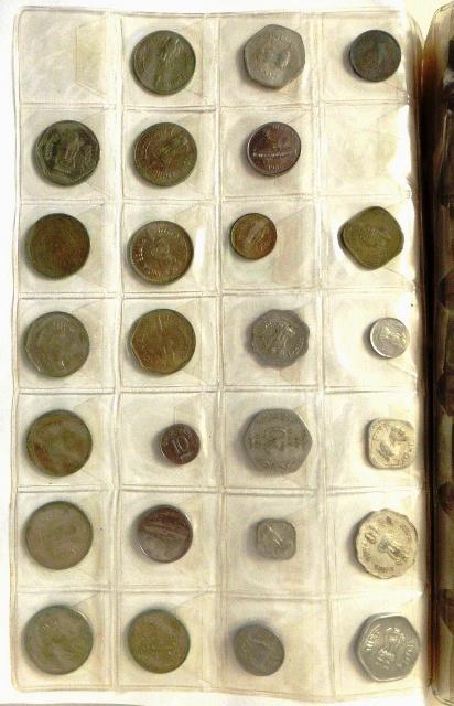 אלבום עם מטבעות: יוון, הונג קונג הונדורס, הודו ועוד