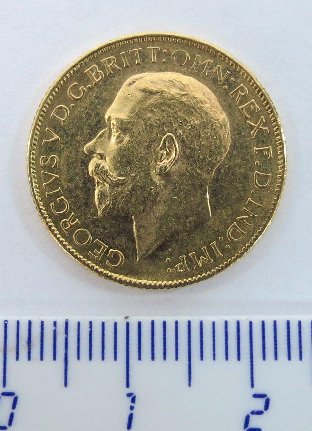 """מטבע זהב אנגלי ע""""ס סוברן B.P. 1911"""