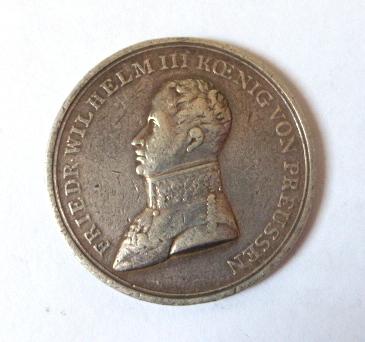 מדליה על זכיה בתחרות צלפים פרוסיה 1840 Fried. Wilhelm III Koenig von Preussen, fine