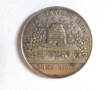 מדלית זכרון Republica Benensis שוויץ, צד א סמל העיר Bern, צד ב' כוורת, מצב XF