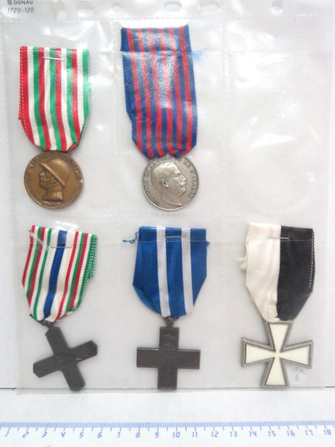 חמישה אותות צבא, איטליה מלחמת העולם הראשונה (4), ושניה (1)