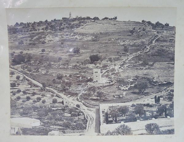 צילום אלבומין, עמק יהושפט, ירושלים, סביבות 1880, 21X27.6