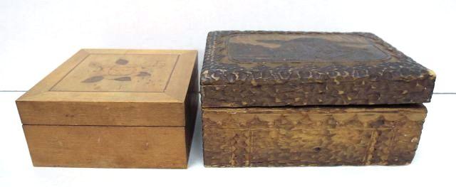 שתי קופסאות עץ, מפולין ורומניה