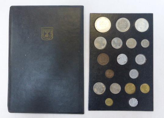"""סט מטבעות ישראל, תש""""ט-תשל""""ב כולל 250 פרוטה (כסף –H) ו-500 פרוטה, תש""""ט (כסף )"""