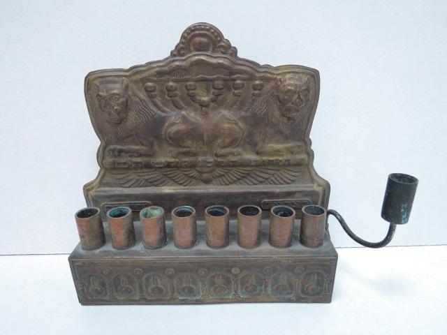 חנוכיה לנרות, בצלאל ירושלם לפי עיצוב של זאב רבן