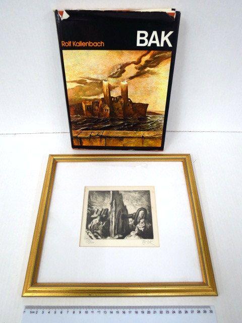 Bak,  מהדורה מהודרת 58/100 כולל תצריב חתום וממוספר (ממוסגר )Rolf Kalenbach
