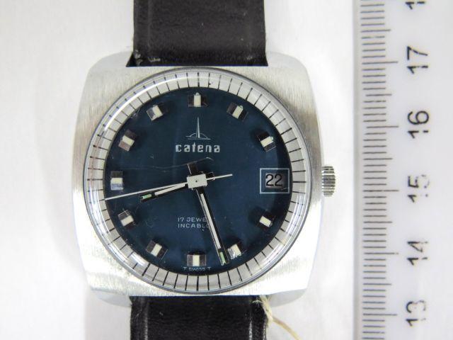 שעון יד תוצ Catena, שוויץ עם מחוג שניות ותאריך, מצב חדש, לגבר