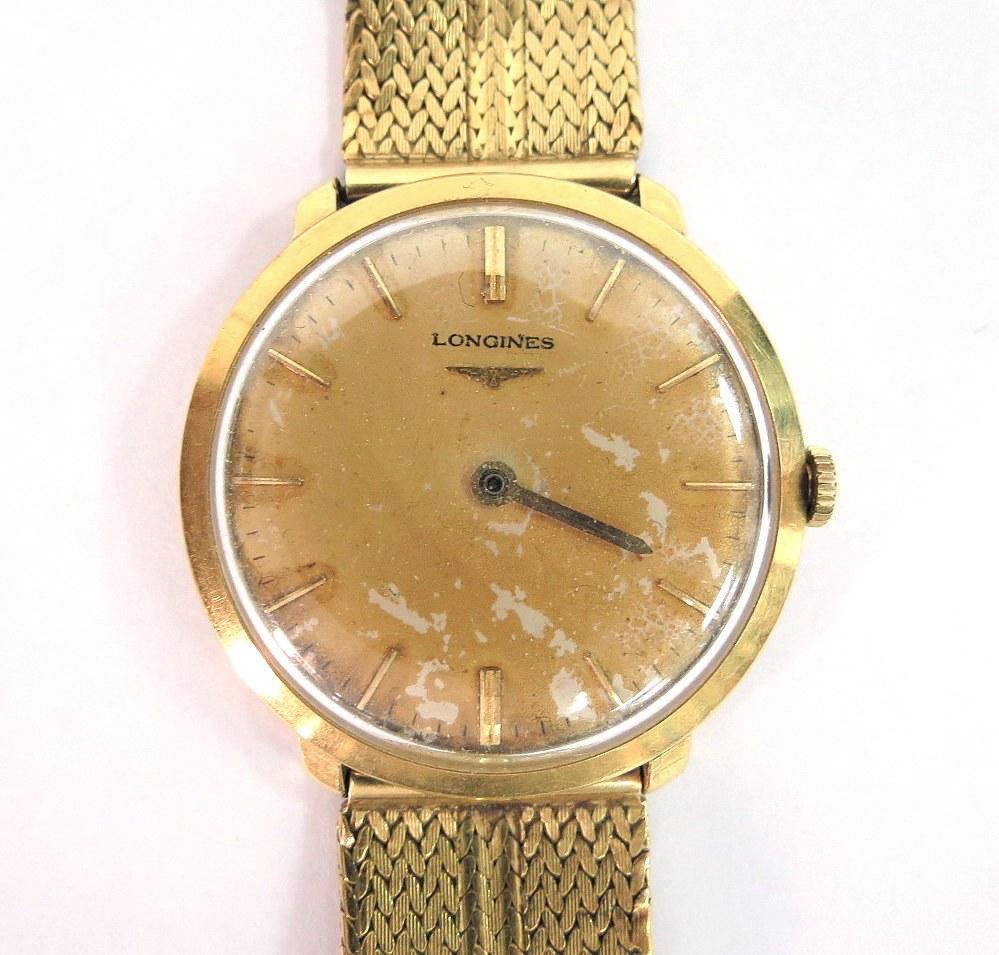 שעון יד תוצ Longines, שוויץ מנגנון רגיל, חסרים מחוגים, מנגנון טעון שיפוץ,משקל ברוטו 64 גרם