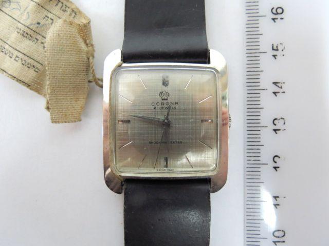 שעון יד תוצ Corona, שוויץ עם מחוג שניות, מצב חדש, לגבר