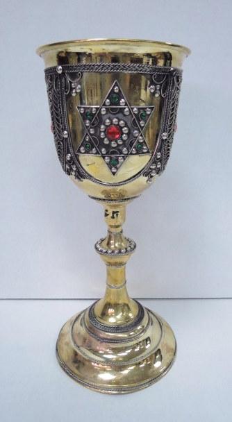 """גביע קישוט, הזהבה ופיליגרן גובה 31 ס""""מ"""