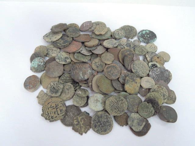 110 מטבעות ברונזה איסלמיות מאה שביעית עד המאה ה15 לספירה