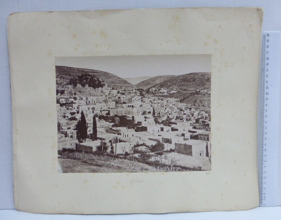 צילום אלבומין, סביבות 1880 נצרת, 20X27