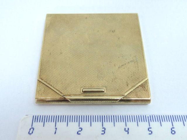 """קופסה ל""""מעטפת"""" גפרורים זהב 14K, משקל 33.7 גרם"""