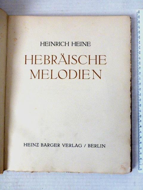 Hebraeische Melodien, Heinz Berger Vlg., Berlin ca 1920, no 101/185