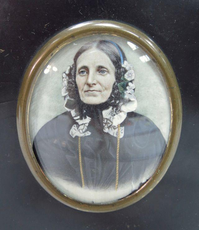 צילום, דיוקן אישה מבוגרת עם צביעת יד, 8.5X7