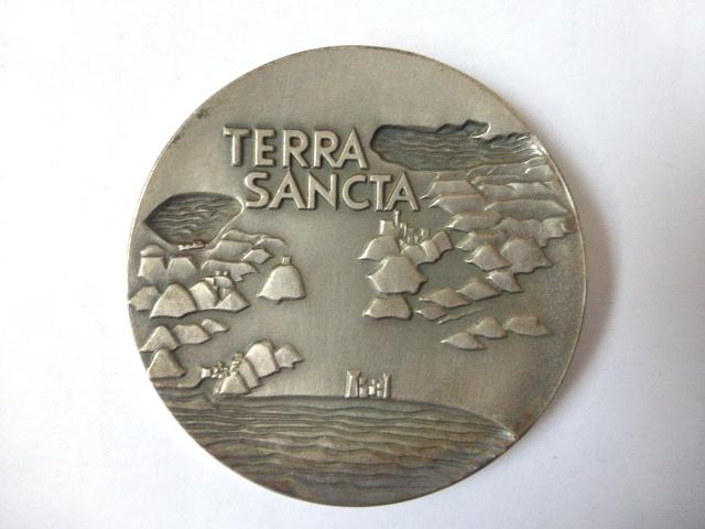 """מדלית כסף 935, """"Terra Sancta"""" 114 גרם"""