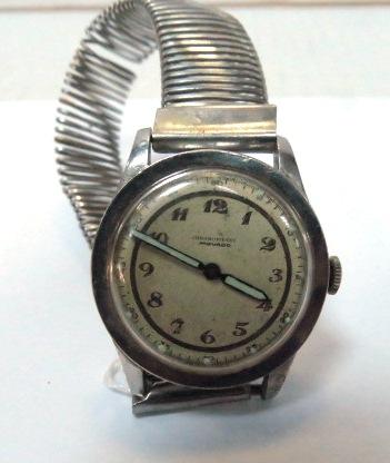 שעון יד תוצ Movado שוויץ דגם Chronometre, מחוגים חלופים, חסר מחוג שניות, משומש