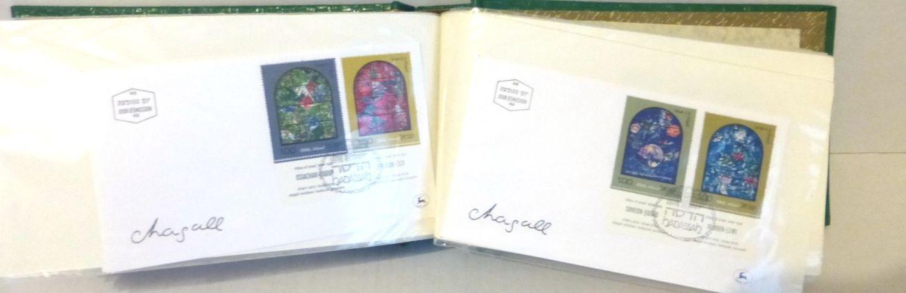 אלבום עם כ-100 מעטפות יום הופעת הבול, 16.2.71-19.10.76