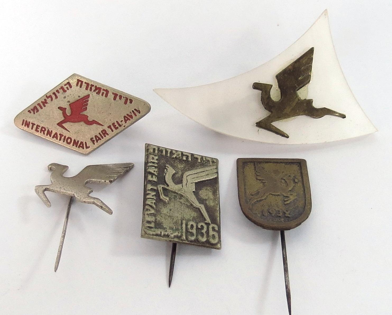 חמש סיכות יריד המזרח 1932, 1936 ושלוש מאוחרות יותר