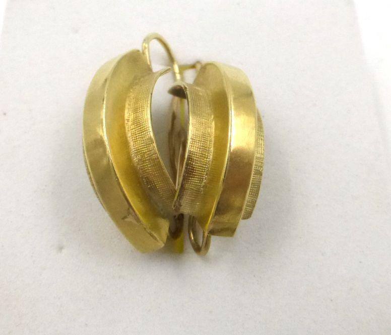 זוג עגילים, זהב 14K כ-5 גרם