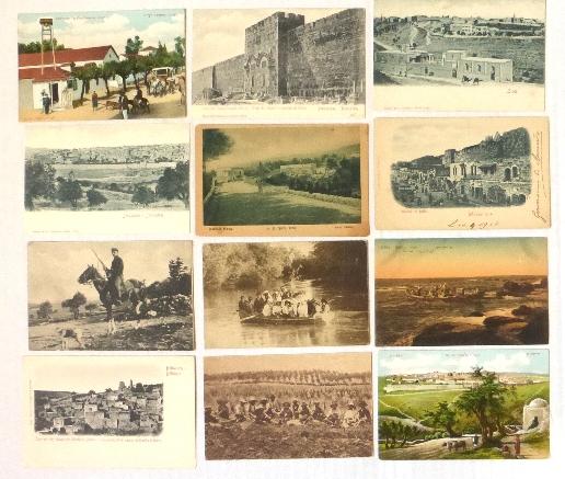 לוט 12 גלויות, מראות ארץ ישראל סוף המאה ה19, עד שנות ה10 של המאה ה20, הוצ' הלבנון ועוד