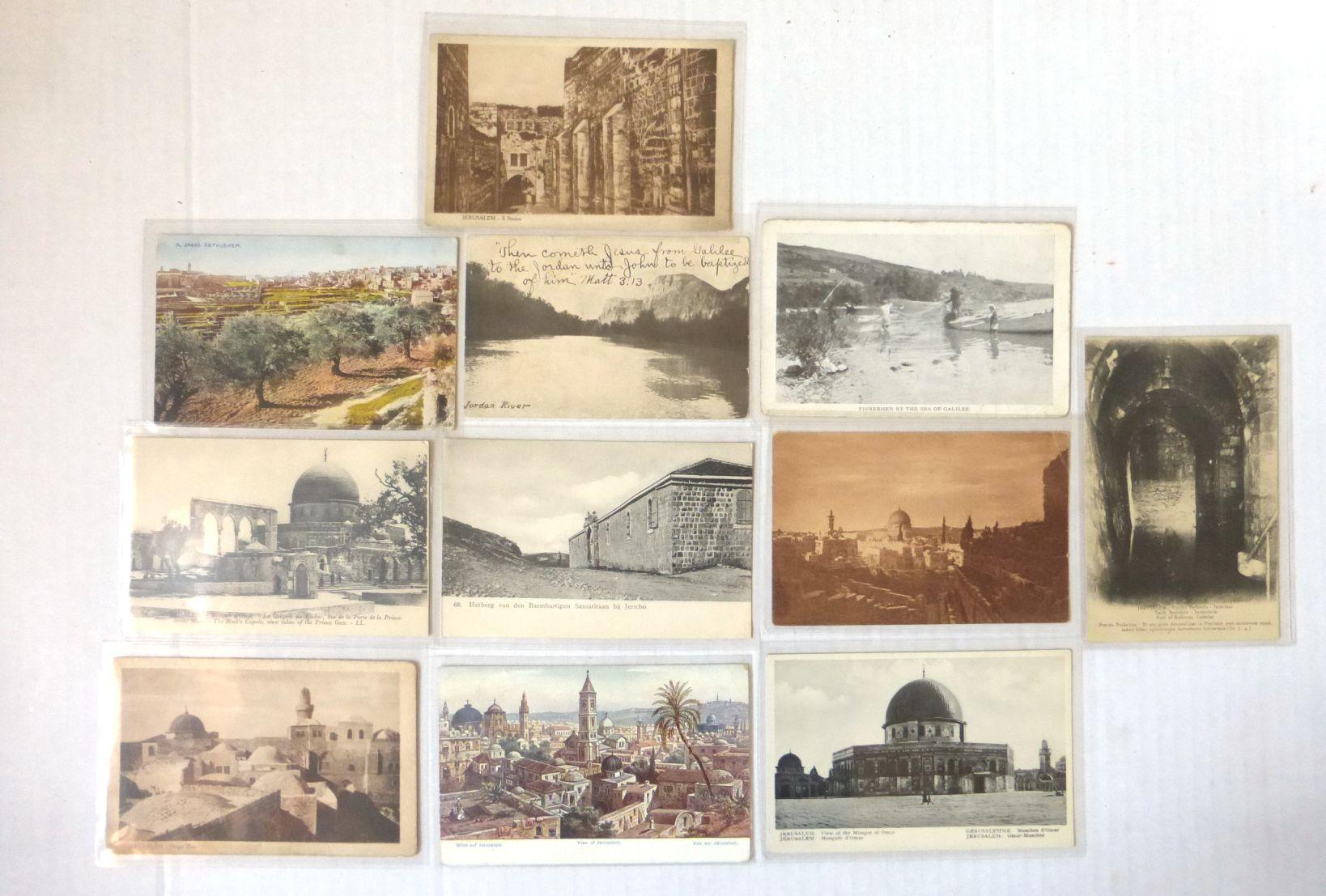 לוט 11 גלויות מראות ירושלים וארץ ישראל, תחילת המאה ה20